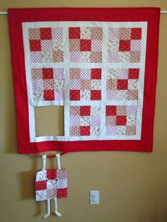 Runaway Quilt Block Hanging In There To Greet You With A Smile - Quilting Cubby                                                                                                                                                                                 More