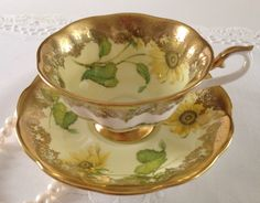 """Rare Royal Albert China Tea Cup & Saucer """"Portrait Series"""" Avon Shape by TheEclecticAvenue on Etsy https://www.etsy.com/listing/202257143/rare-royal-albert-china-tea-cup-saucer"""