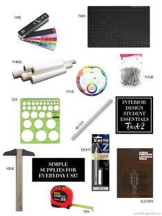Interior Design Student Supplies for Everyday Use Part 2 #backtoschool #designschool #interiordesignschool