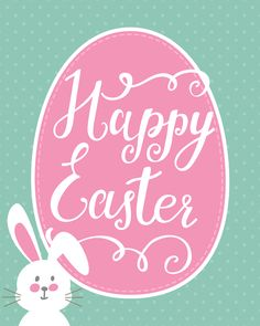 Happy Easter free printable