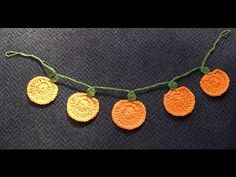 ▶ Pumpkin Garland Crochet Tutorial - Halloween - Variation to use as Christmas decoration - YouTube
