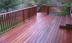 Tigerwood Decking with Stairs