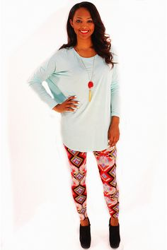 Mint To Be Tunic Tee - Pulling off that effortlessly casual look has never been so easy as with this boldly colored tee! Basic in structure yet fun in this popular shade of mint. Just throw on over leggings or jeans, add boots, and simply accessorize for a quick and stylish day on the town.  - available online at http://www.envyboutique.us/shop/mint-tunic-tee/ #Envy #Boutique #chic #fashion #fashiontrends #MintTee, #Tee, #TunicTee