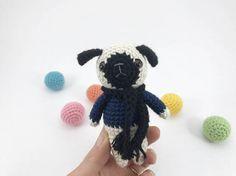 Crocheted Pug Crochet Dog Amigurumi Dog Crochet by MossyMaze