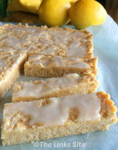 This lemon coconut slice is heaven for any sweet tooth. It's soft and sweet wi… This lemon coconut slice is heaven for any sweet tooth. It's soft and sweet with a delicious lemon tang; no one will ever know that it is low calorie! Lemon Desserts, Lemon Recipes, Easy Desserts, Dessert Recipes, Strawberry Desserts, Sweet Recipes, Lemon Coconut Slice, Coconut Bars, Vegan Protein Bars