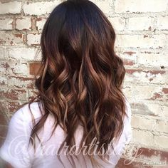 Carmel mahogany balayage Hair by Aly Tompkins Mon Amie Salon  Redlands, CA…