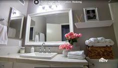 clean white trim mirror