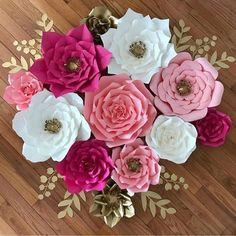 2X Diy 20Cm Paper Flower Backdrop Hen Party Kid Birthday Wedding Home Room Decor