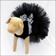 Black Tutu Dog Prom Dress