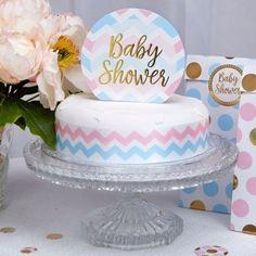 "Décoration Gateau Cake Topper ""Baby Shower"" Bleu et Rose Baby Shower Party Deko, Décoration Baby Shower, Cadeau Baby Shower, Baby Shower Drinks, Boy Baby Shower Themes, Baby Shower Balloons, Baby Shower Favors, Baby Shower Cakes, Baby Shower Parties"