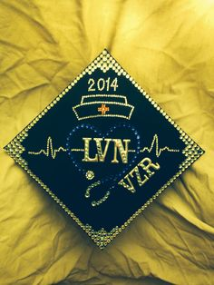My nursing graduation cap | bling | nursing | RN | LVN | graduation cap | ideas