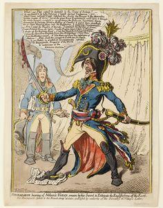 #encyclopedie EHNE : L'Europe napoléonienne. Par Walter Bruyère-Ostells.   Napoléon vitupérant à la nouvelle de la victoire de l'amiral Nelson sur la flotte française lors de la bataille du Nil.