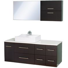 "Buy Christo 54"" Modern Bathroom Vanity Set - Espresso at ModernBathroom.com. Get free shipping and factory-direct savings on Christo 54"" Modern Bathroom Vanity Set - Espresso."