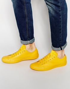 quality design 4caf5 99a99 Converse Chuck Taylor All Star Rubber Plimsolls In Yellow 151166C at  asos.com