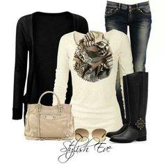 Black & white #Winter wear