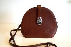 Genuine leather handbag Crossbody bag with silver by vintagdesign