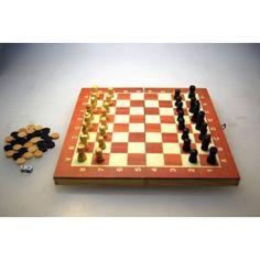 Backgammon Checkers Chess Board 3 en 1 du grossiste et import