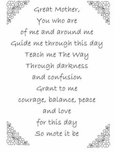 Prayer to the Mother