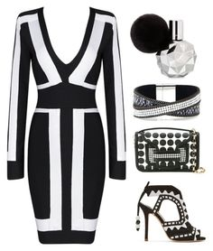 """""""Black & White"""" by boho-betty-usa ❤ liked on Polyvore featuring Sophia Webster, Pierre Hardy and lovebohobetty"""