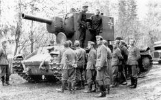 A massive KV-2 under German control is drawing quite a crowd