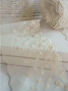14yards embroidered mesh lace  (width 10cm)natural ivory 12927. $24.00, via Etsy.