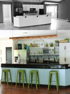 Before and After: Boho Rustic Colorful Kitchen Remodel
