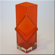 Riihimäen Lasi Oy / Riihimaki red glass 'Pablo' vase by Erkkitapio Siiroinen, design number 1388
