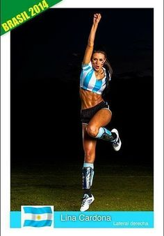 Lina Cardona (Argentina Team) . Colombia's Next Top Model, Cycle 2 Episode 6 > Soccer Players