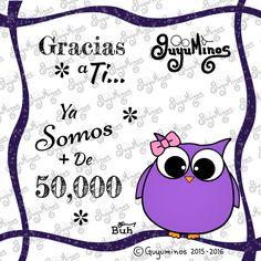 Gracias a ti... ya somos más de 50,000 Seguidores desde  Google+ en la Colección de Tarjetas y Videos! Mil Gracias por brindarnos tu amistad!!! #seguidores #gracias #googleplus #guyuminos #cute #amistad