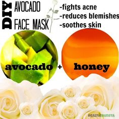 DIY face mask for troubled skin! All it is is avocado and honey!