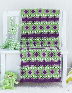 Picture of Granny Square Baby Afghans www.maggiescrochet.com