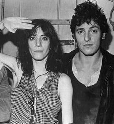 Patti Smith and Bruce Springstein c. 1976.