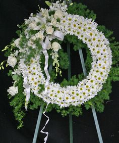 Sympathy Flowers Los Angeles - A spectacular Funeral Wreath http://www.frenchflorist.com/product.cfm/iteID/2879