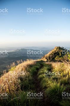Beautiful landscape sunrise nature background Mountains and sky gold color royalty-free stock photo