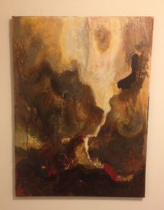 A crevice of light. Abstract art. Acrylic.