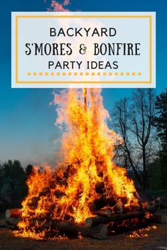 S'mores And Bonfire Backyard Party Ideas Fall Bonfire Party, Bonfire Games, Backyard Bonfire Party, Bonfire Birthday Party, Summer Bonfire, Beach Bonfire, Bonfire Night, Bonfire Ideas, Bonfire Parties