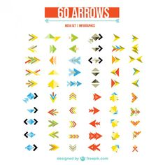 Arrows set for web design  Free Vector