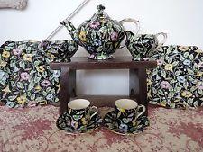 Vintage Royal Winton Chintz Morning Glory Tea Set for 2 Teapot 9 Pieces Rare!