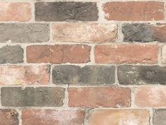 Peter Lees Reclaimed Bricks Wallpaper Dusty Red