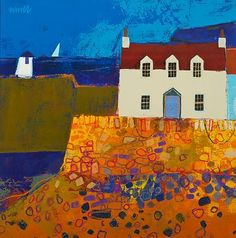 George BIRRELL - Sail On the Horizon Scottish artist and paintings at scottishartpaintings.com