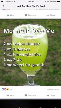 Mountains dew me: