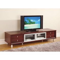 TV Cabinet in Mahogany | Nebraska Furniture Mart