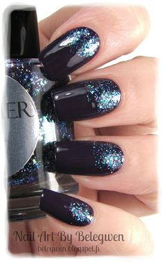 Nail Art by Belegwen: Shimmer Polish: Cleo