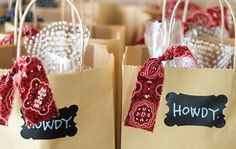 Howdy welcome gift bags for church or SS visitors!