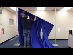 In this video, OnlineEEI shows you step-by-step instructions on how to set up a portable pipe and drape backdrop kit using its 8 foot tall freestanding kit.      For more information, please visit our event decorating products international store:  http://www.onlineeei.com/    Here are the written, step-by-step instructions:    1. Remove screw from bot...