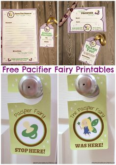 We're going to need all the help we can get!  Free Pacifier Fairy Printables - Moms & Munchkins
