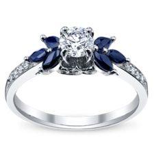 14K White Gold Diamond Engagement Ring 1/2 Carat Total Weight