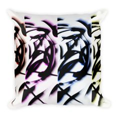 """This soft pillow is an excellent addition that gives character to any space. It comes with a soft polyester insert that will retain its shape after many uses, and the pillow case can be easily machine washed. And it's completely cut, sewn and printed in the USA.  • 18x18""""  • machine washable cove..."""