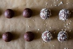 No-Bake Dark Chocolate Coconut Bites