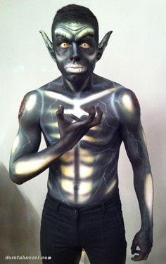 Halloween Creature Body Paint designed by Dorota Buczel - Alchemy Center Makeup Art Studio & Boutique  Body Painting + Airbrushing by Dorota Buczel for Kett Cosmetics @IMATS Toronto 2014  #makeupartist  #makeup #artist #toronto #bodyart #fx  #airbrush #airbrushing  #airbrushmakeup #bodypainting #bodypainter #face paint #art #makeupartistshow  #halloween #kettcosmetics #studiolife #alien
